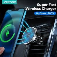 Cargador de coche inalámbrico magnético Qi, soporte de teléfono para iPhone 12 Pro Max, carga inalámbrica Universal para Huawei, 15W