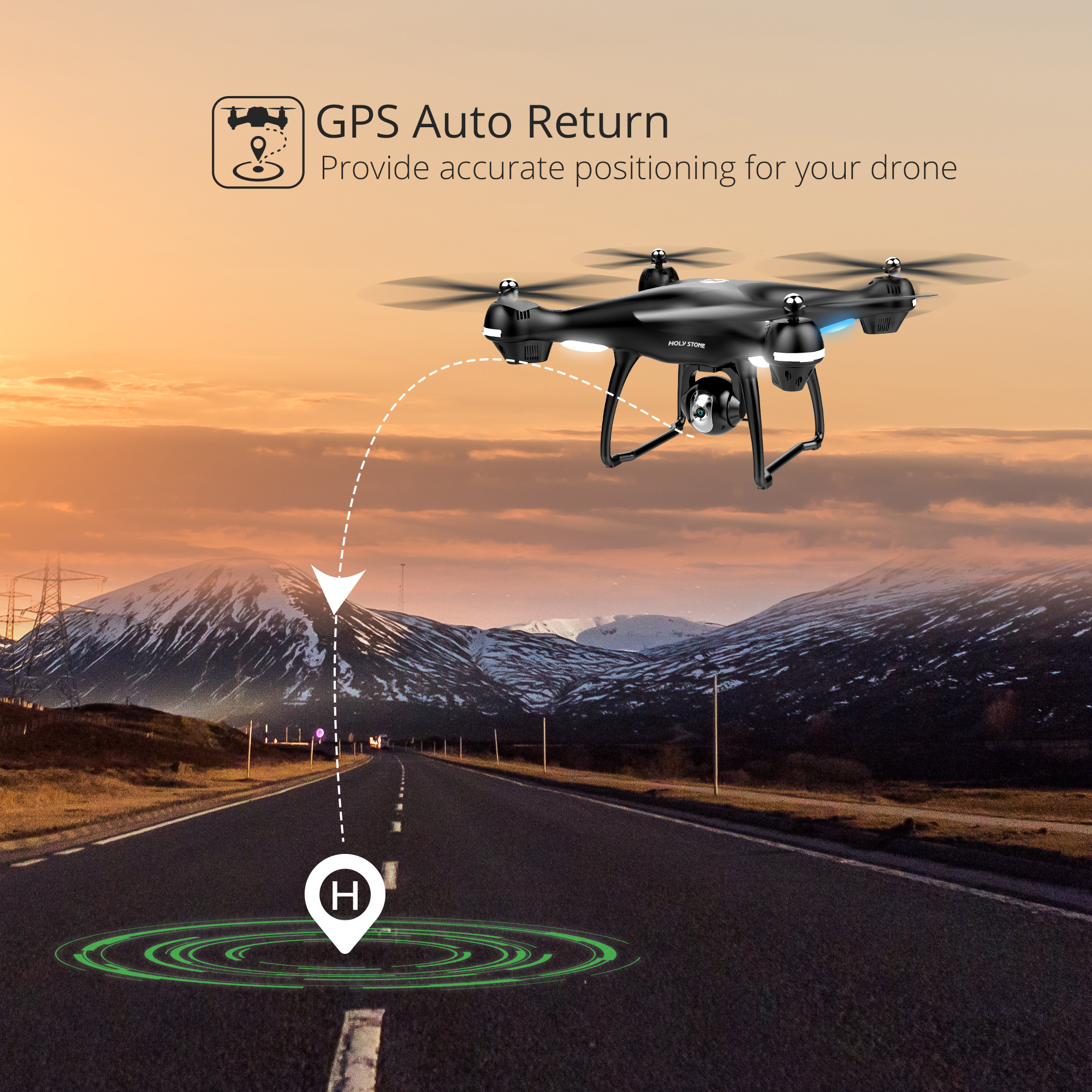 Holy Stone HS100 GPS Drone With 1080P 720P HD Camera FPV Wifi 120° FOV Wide Angle RC Helicopter Quadrocopter Camera RC Drones