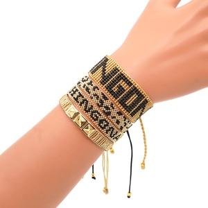 Image 5 - Go2boho Leopard Bracelet CHINGONA Power Pulseras Mujer Moda 2020 Heart Evil Eye MIYUKI Bracelet Jewelry FEMINISTA Women Handmade