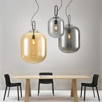 Postmodern Chandelier Restaurant Studio Living Room Bedroom Creative LED Single Head Stone Glass Chandelier Led Hanging Lamp|Pendant Lights| |  -