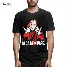 2019 For Unisex Cartoon La Casa De Papel T Shirt Money Heist Camiseta Casual Unique Pure Cotton Male Short-sleeved