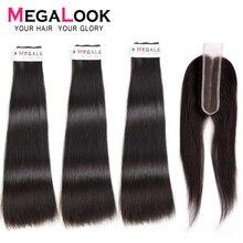 Прямые волосы пряди с закрытием натуральные русые перуанские волосы пряди с закрытием 3 4 пряди 2x6 девственные волосы двойной вытяжки