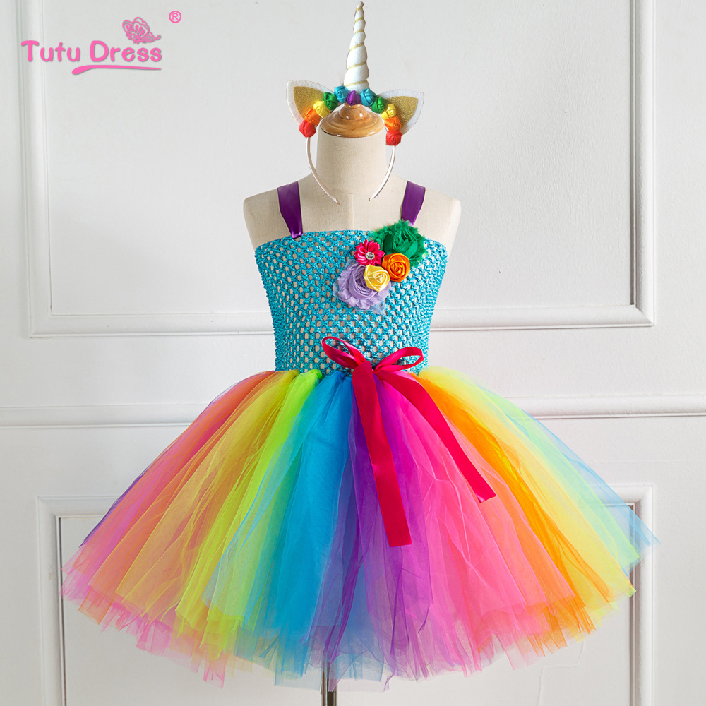 Europe And America Hot Selling New Style Flower Performance GIRL'S Gown Children Princess Model Catwalks Children Dress