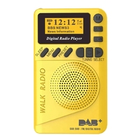 Pocket Dab Digital Radio, 87.5 108Mhz Mini Dab+ Digital Radio with Mp3 Player Fm Radio Lcd Display and Loudspeaker