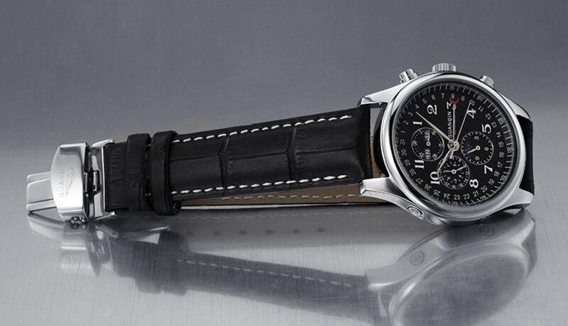 H0eb779708e81490995e4eaacda0791e4B GUANQIN Relogio Masculino Automatic Mechanical Men Watches Waterproof Calendar Moon Leather Wristwatch otomatik erkek saat