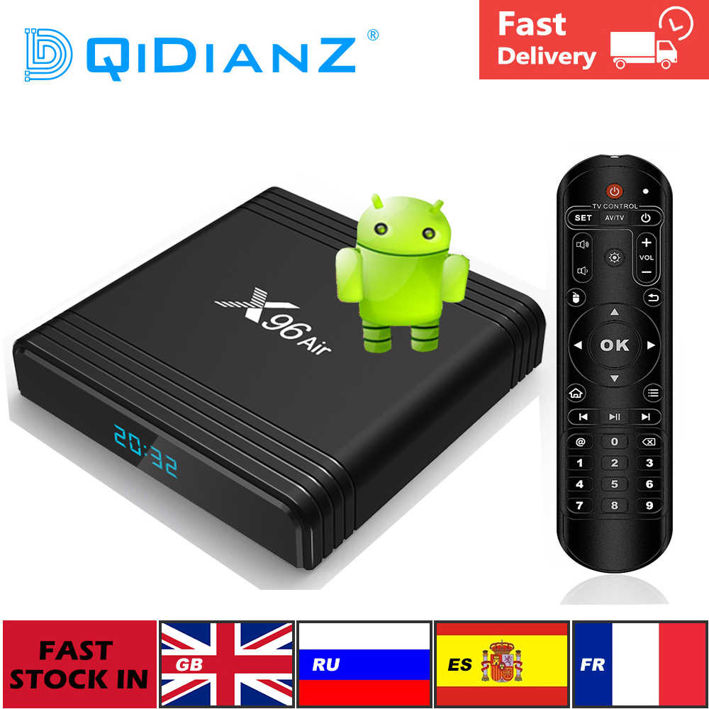 Nouveauté Android 9.0 X96Air Smart TV Box Amlogic S905X3 4GB 32GB 64GB 2.4G & 5G Wifi 2G/16G 4K lecteur multimédia pk H96 HK1max