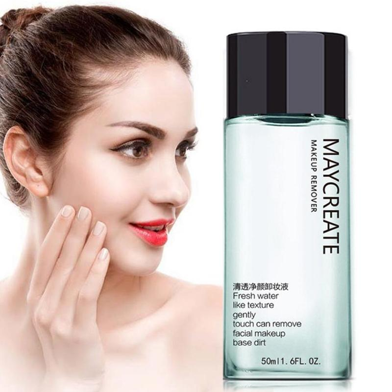 50ML Portable <font><b>Makeup</b></font> <font><b>Remover</b></font> <font><b>Liquid</b></font> Water Gentle Eye Lip Face Make-Up <font><b>Remover</b></font> Travel Skin Care image
