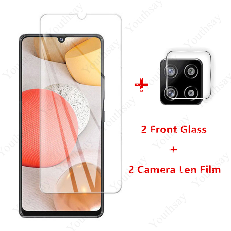 2PCS For Samsung Galaxy A42 Glass Tempered Glass for Samsung Galaxy S20 FE M51 M31s A71 A51 A41 A31 A21s A11 Screen Protector