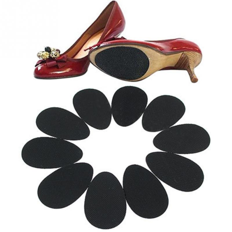 5 Pairs Universal Anti Slip Shoe Sole Pads Ground Grips High Heels Adhesive Waterproof Half Outsoles Sticker DIY Forefoot Pad#2