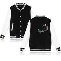 2019 Hot Sale Baseball Jacket Monster story Pattern Design Capless Sweatshirt Harajuku Hip Hop Hoodies Brand Clothing