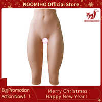 KOOMIHO 7-Point Silicone Realistic Vagina Panties Crossdresser Fake Sexy Pussy Underwear Transgender Drag Queen Shemale Toy 1G