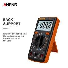 ANENG M1 Цифровой мультиметр Профессиональный ЖК-дисплей AC/DC Напряжение Ток Сопротивление транзистор Непрерывность тестер защита от перегрузки