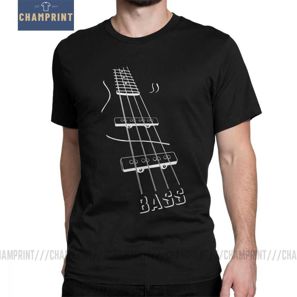 Bass Guitar T-Shirt for Men Short Sleeves 2019 Fashion Tees Crew Neck Cotton Clothes Birthday Gift T Shirt