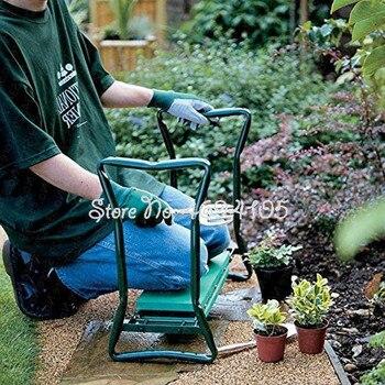 Nouveau pliant jardin Kneeler et siège multifonctionnel siège en acier inoxydable tabouret de jardin portant 150KG rapide arriver en quelques jours