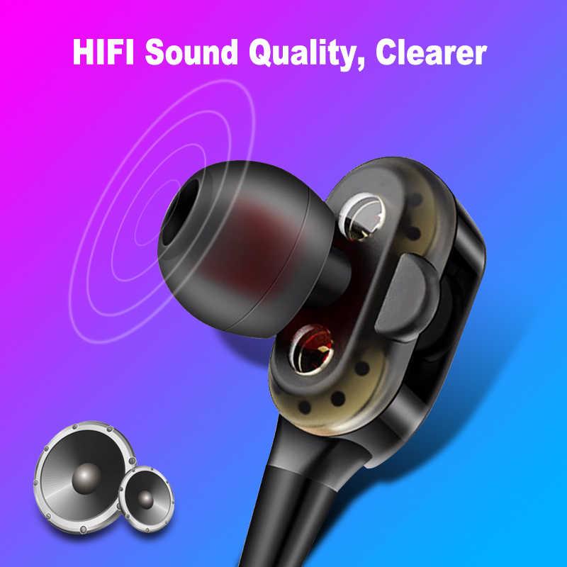 高低音有線イヤホンデュアルドライブステレオインイヤーイヤホンコンピュータのための携帯電話