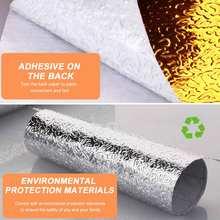 Кухонная маслостойкая наклейка 40x200 см водонепроницаемая алюминиевая
