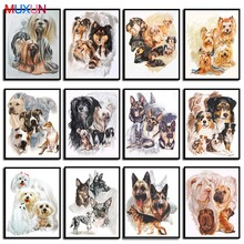 5D Diy Cross Stitch Diamond Painting Full Round Diamond Mosaic Embroidery 3D Diamond Animal Dog Painting Home Decoration   Lx576 mooncresin diamond painting cross stitch comfortable tiger animal diy diamond embroidery full round 5d diamond mosaic decoration