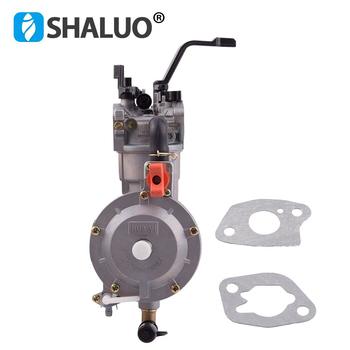 LPG 168 gaźnik podwójny zestaw do konwersji paliwa LPG NG dla 2KW 3KW 168F 170F generator benzynowy podwójny gaźnik paliwa gorąca sprzedaż tanie i dobre opinie SHALUO CN (pochodzenie) 168F 170F 6 5HP honda generator