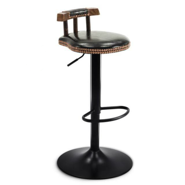 Bar Chair, Solid Wood High Stool, Front Desk   Back   Table,  Northern Europe   Household Hi