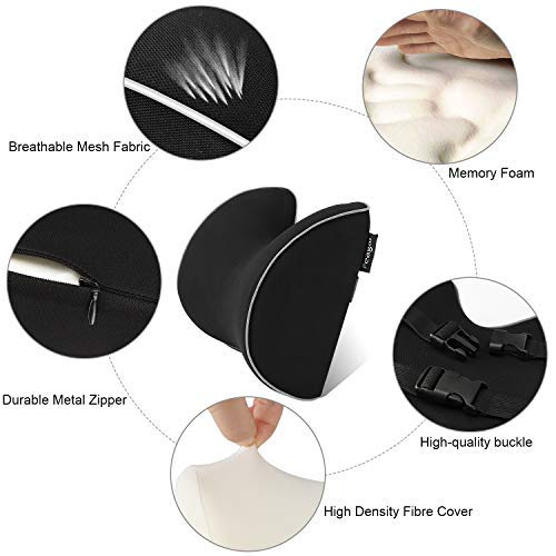 Image 2 - Car Seat Headrest Car Neck Pillows Filled Fiber Cushion Pad Memory Foam Head Rest Auto For Travel Support Car Seat Accessories-in Neck Pillow from Automobiles & Motorcycles