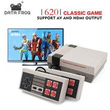 DATA FROG Consola de Videojuegos TV integrado 620 juegos 8 bits consola de juegos Retro reproductor de juegos portátil mejor regalo envío gratis
