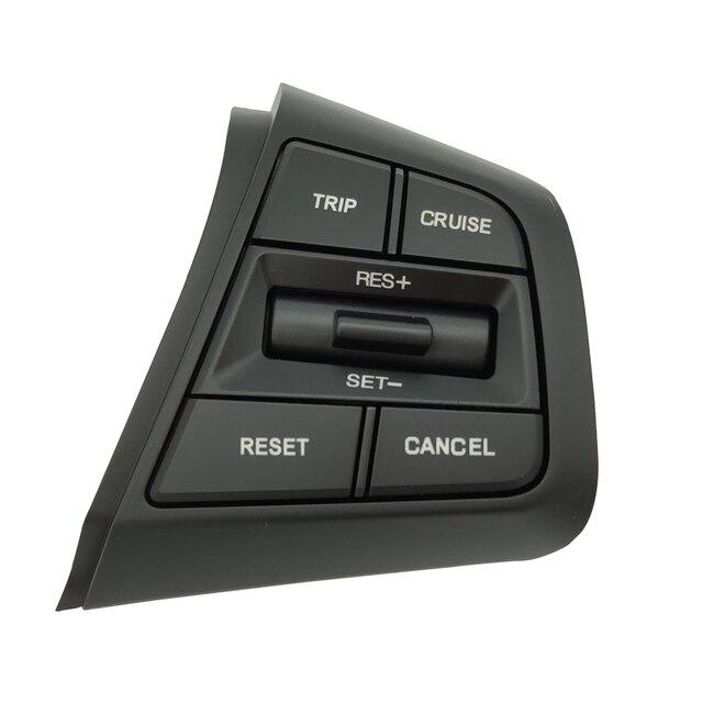 ステアリングホイールクルーズコントロールボタンスイッチ現代creta Ix25 1.6L 2.0Lリモートコントロールボリュームボタン右側青色光
