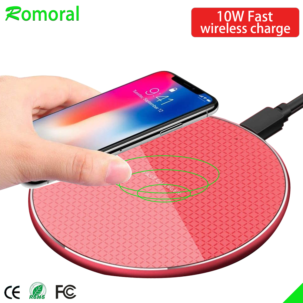 10W Fast Wireless Charger For Samsung Galaxy S10 S9/S9+ S8 Note 9 USB Charging Pad For IPhone 11 Pro XS Max XR X 8 Plus
