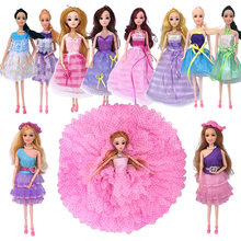 Girls Playing Doll Dressing Toys Beauty Salon bar bie Hairdresser Fashion Hair Salon Play SetDoll with Pretty Dress Doll Toys(China)
