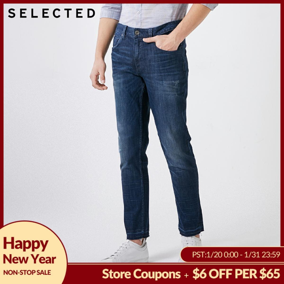 SELECTED Men's Spring Slight Stretch Slim Fit Jeans C|419132544