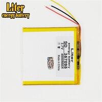 Bateria do li-íon de três fios battery.3.7v 4000mah (bateria do íon do lítio do polímero) para o pc da tabuleta mp3 mp4 de 7 polegadas [357095]
