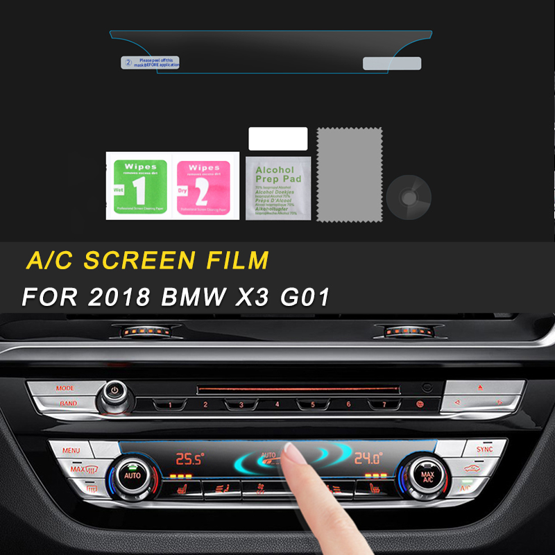 Car A/C Air Panel Monitor Screen Protector Film Cover Trim Stickers Interior Accessories For 2018 BMW X3 G01 X4 G02 Auto