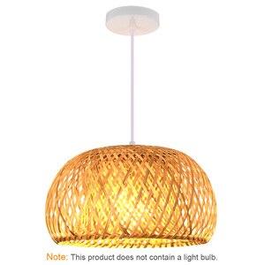 Image 2 - Nordic Ratta Lamp Handmade Pendant Lamp Bamboo Chandelier Retro Garden Restaurant Cafe Bar Lounge Lighting Decorative Lamp