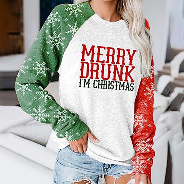 Фото женский объемный свитшот в стиле оверсайз с изображением рождественской цена