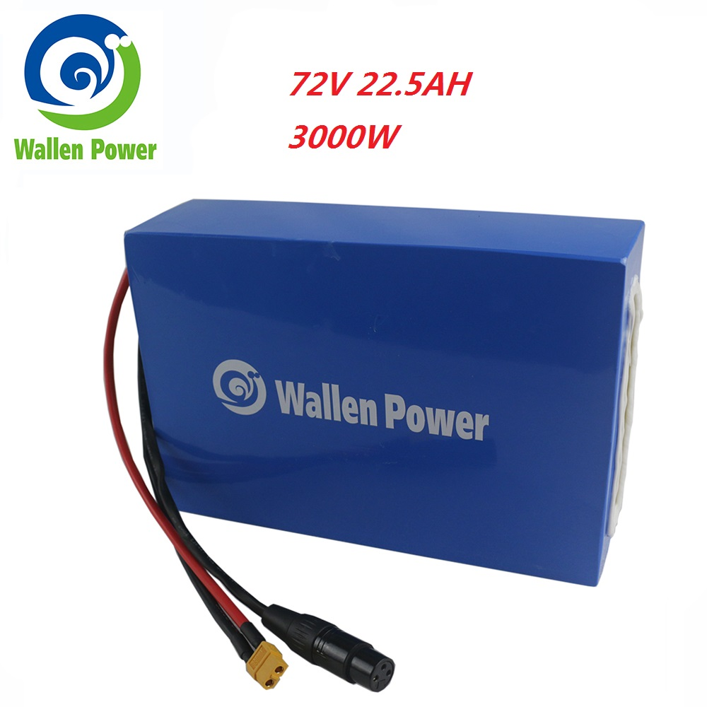 72V 22.5Ah 3000W E-Scooter/Ebike Lithium Battery Electric Bicycle Battery 72V ebike Battery for Scooter Motor 3000W 2000W 1000W