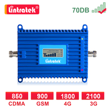 Amplificateur cellulaire GSM 2g 3g 4g amplificateur de Signal 900 2100 1800 MHZ LTE WCDMA DCS 4G répéteur Internet appel vocal Lintratek LCD dd
