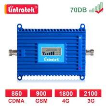 Hücresel amplifikatör GSM 2g 3g 4g sinyal güçlendirici 900 2100 1800 MHZ LTE WCDMA DCS 4G tekrarlayıcı İnternet sesli arama Lintratek LCD dd