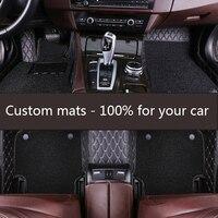 ZRCGL universal Car floor mat for Maserati all models GranTurismo Ghibli quattroporte Levante car styling auto accessories