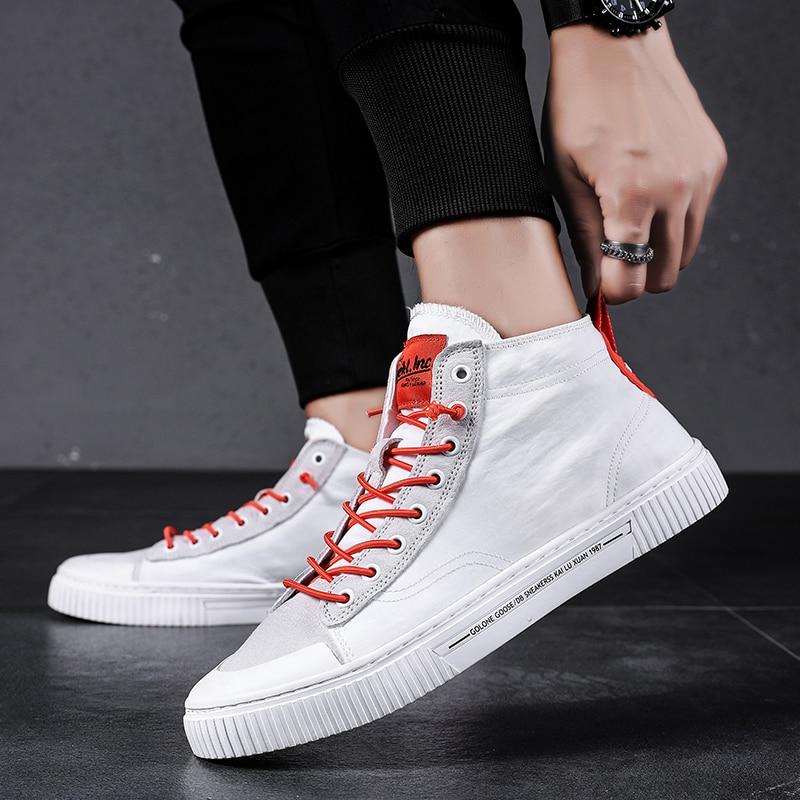 High Top Men Sneaker Mens Wear Lace Up