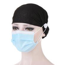 Хлопковая повязка на голову с защитой ушей пуговица для ношения