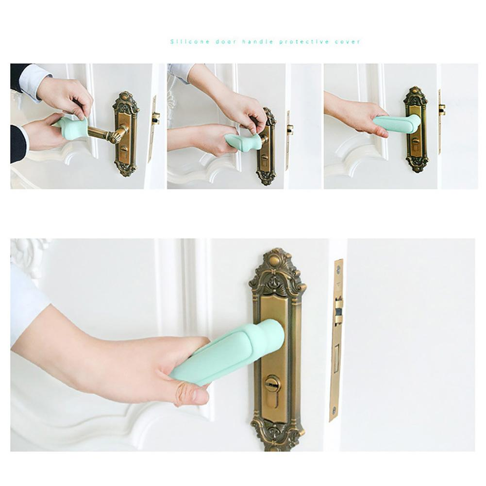 Door Handle Silicone Cover  Baby Children Safety Doorknob Anti-collision Pad