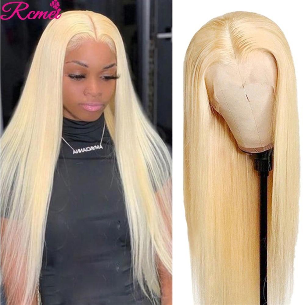 Парик со средней частью 30 дюймов, без клея, 613 медовая блондинка, парик на сетке, бразильские прямые парики на сетке из человеческих волос, пр...
