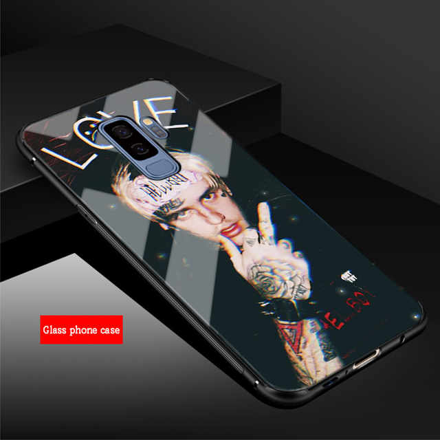 LIL PEEP TEMPERED GLASS SAMSUNG PHONE CASE (12 VARIAN)