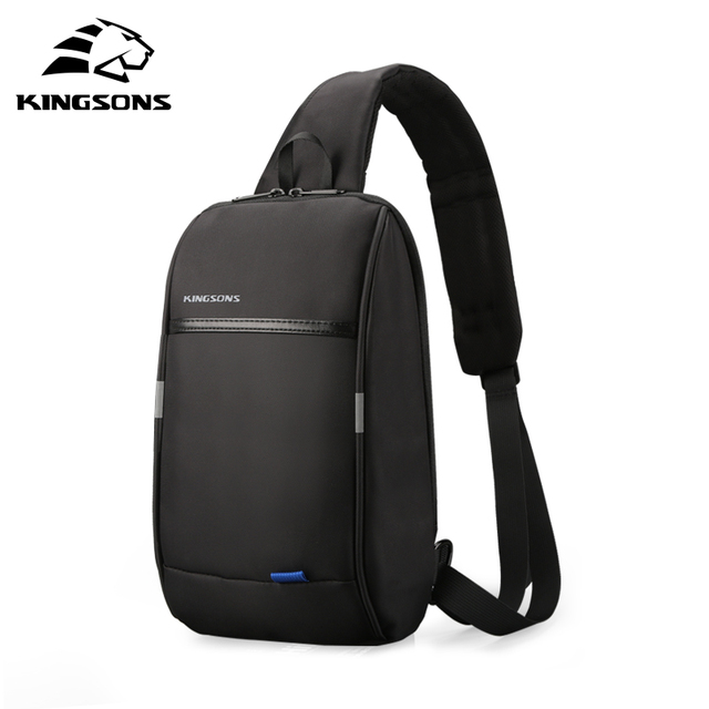 Kingsons 2019 New 3174 A  Leisure Travel Single Shoulder Backpack 10.1 inch Chest Backpack For Men Women Casual Crossbody Bag
