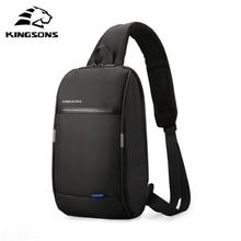 Kingsons 2019 nouveau 3174 A loisirs voyage unique épaule sac à dos 10.1 pouces poitrine sac à dos pour hommes femmes décontracté sac à bandoulière