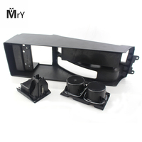 Car Cup Holder Black Interior Organizer Multifunction Auto Vehicle Seat Cup Drink Cell Phone Holder Front Center Console Storag