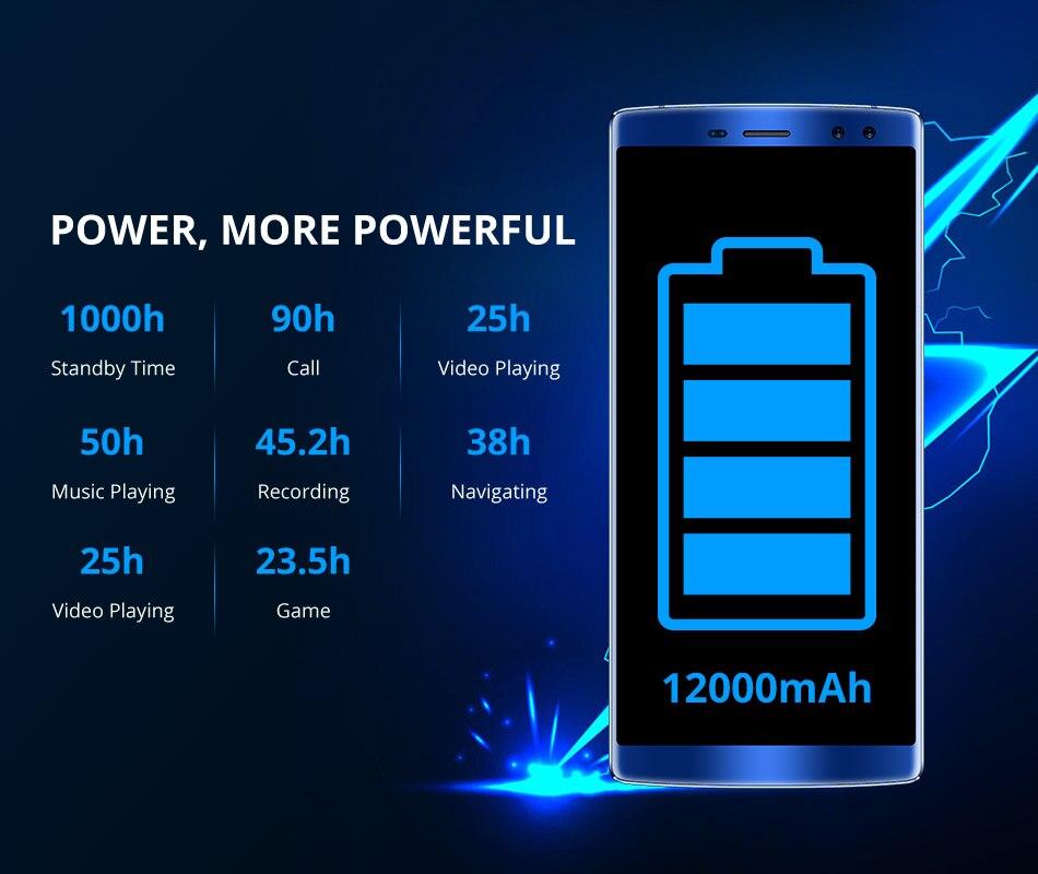 DOOGEE BL12000 Smartphone 12000mAh carga rápida 6,0 18:9 FHD pantalla MTK6750T Octa Core 4GB 32GB 16MP Cámara Android 7,1 teléfonos - 4