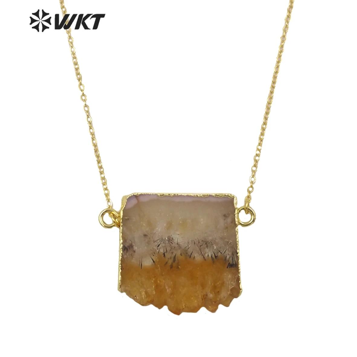 OPAL x QUARTZ x Pine Pendant  Natural Jewelry