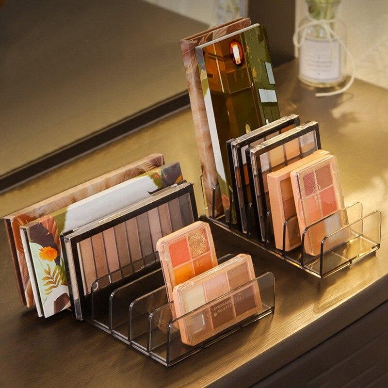 7 Grids Clear Acrylic Eyeshadow Compact Organizer Drawer Organization Divider Makeup Storage Box Transparent Slot Cosmetics Case