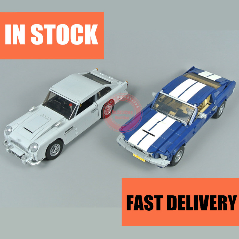 Nowy samochód wyścigowy James Bond DB5 Fit Legoings Technic Ford Mustang miasto Model zestawy klocki klocki Diy zabawki dla prezent dla dzieci chłopiec w Klocki od Zabawki i hobby na AliExpress - 11.11_Double 11Singles' Day 1