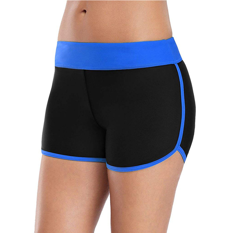 Boxer Women's Sports Yoga Shorts Fitness Safe Beach Shorts Tight-Fit Quick-Dry Base Swimming Trunks